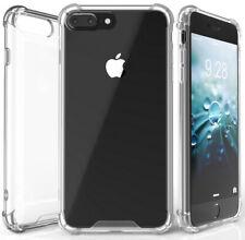 AQUAFLEX ANTI-SHOCK BUMPER CASE COVER CLEAR HARD BACK FOR APPLE iPHONE 7/8 PLUS