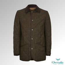 "Chrysalis Blake Quilt Jacket Tweed Brown 46"""