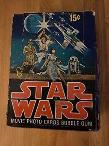 Vintage 1977 Star Wars Series 1 Topps Trading Photo Card box-RARE!!!!