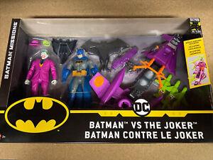 DC BATMAN MISSIONS - BATMAN VS THE JOKER  PLAY SET BY MATTEL NEW & SEALED Free P