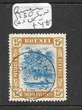 BRUNEI (P0104B)  RIVER SCENE 25C  SG 30  SON CDS VFU