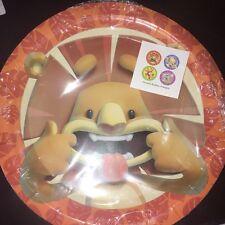 8 Animal Paper Plates. Zoo, Safari, Monkey, Lion, Giraffe, Elephant. 4 Designs