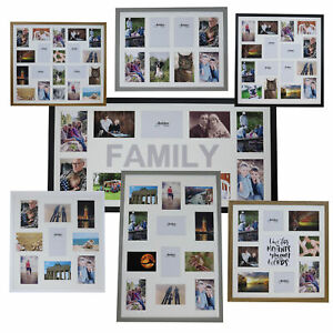 Large Multi Aperture Photo Picture Frames Holds 8/9/10/12/16/20 Photos 6x4
