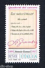 ITALIA UN FRANCOBOLLO ANTONIO GRAMSCI POLITICO 1997 nuovo**