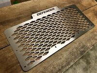 Defender Grille Stainless Steel Honeycomb Land Rover Defender Front Silver