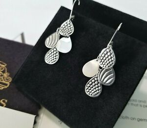 "LAGOS - Caviar Sterling Silver Chandelier Earrings - 1 3/4"" drop - Stunning!"