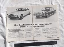 HJ HX Holden Statesman Jaguar XJ6 Original Advertisement removed from a magazine