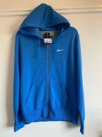 Nike mens BLUE hooded zip top coat hoodie size M Medium RRP £49.95 CZ4147-435