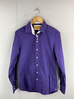 Brio Milano Men's Long Sleeve Button Up Contemporary Fit Shirt Size M Purple