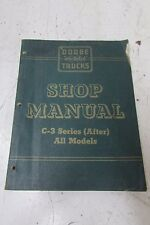 VINTAGE 50'S OEM DODGE TRUCK C3 T400 SERIES SERVICE SHOP WORKSHOP MANUAL