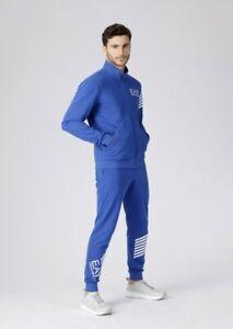 Armani Men's EA7 Seven Stripe Blue Tracksuit 3GPV66