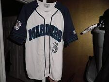 Vintage Seattle Mariners Throwback Baseball Felt Starter Jersey XL Rare!