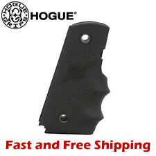 Hogue 1911 Government /Full Size Model 45 ACP Rubber Grip w/Finger Grooves Black
