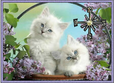 Cute Kittens wall clock Handmade (Great man cave clock)  They make great gifts
