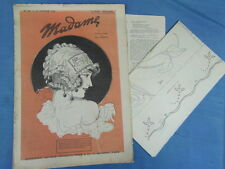 REVUE MODE BRODERIE : MADAME 1924 (158) + DESSINS DECALQUABLES EMBROIDERY