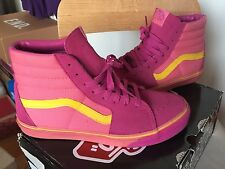 Rare Vans Sk8 Hi 10 Authentic Pink Yellow Purple Black White Era Old Skool High