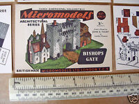 1950s Vintage Original Micromodels Cut-Out Kit ARC IX (9) Bishop's Gate 3/-