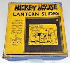 Mickey Mouse in Traffic Troubles - Box Set of 8 Walt Disney Magic Lantern Slides