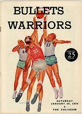 1953-54 NBA PHILADELPHIA WARRIORS vs. BALTIMORE BULLETS GAME PROGRAM (UNSCORED)