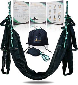 Premium Aerial Yoga Hammock Trapeze Kit  Antigravity Acrobat Flying Sling Set f