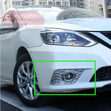 2pcs Fog Lamp Frame Chrome Trim For Nissan Sentra Sedan 2016 2017 2018