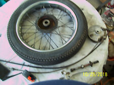 HARLEY 1962 HUMMER PACER FRONT WHEEL-BRAKES-LEVER-BRAKE CABLE-SPEEDO CABLE!!