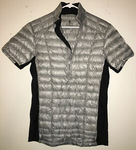 Sierra Designs Men's 1/4 Zip Vest Size Medium DriDown 800-Fill Cycling EUC