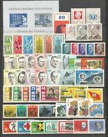DDR    1963 Postfrisch kompletter Jahrgang mit allen Einzelmarken