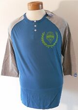 NWT Adidas Seattle Sounders FC Mens 3-Button 3/4 Sleeve Shirt XL Blue/Grey $45