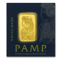 Lingot Suisse PAMP 1 Gramme Or pur 9999 / 1 Gram PAMP Fortuna Fine Gold 9999 Bar