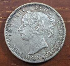 1862 New Brunswick Canada 10 Cent Silver Dime EF AU Details Porous Coin Lot D59