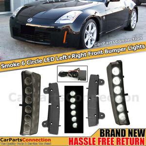 LED Daytime Running Lights For Nissan 350Z 03-05 Side Marker Lamps Smoke Lens