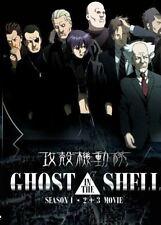 DVD Ghost in The Shell Season 1 + 2 + 3 Movie English Dub + Free Gift