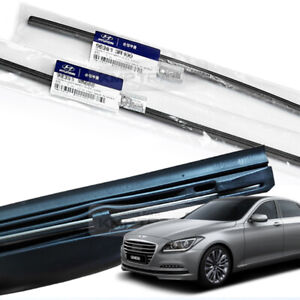OEM Parts Windshield Wiper Blade Rubber LH+RH for HYUNDAI 14-16 Genesis Sedan