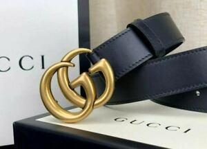 GUCCI Genuine High Quality Leather Belt Men Women 110CM