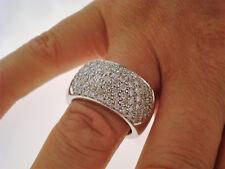 TOP Ring 750 Gold 79 Brillanten insg. ca. 1,80 ct Anello Oro 18K ca. 19,0 g