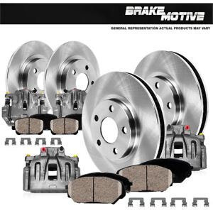 Front + Rear Brake Calipers And Rotors + Ceramic Pads For 2010 2011 Ford F350