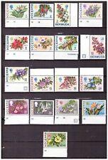 s19411) BERMUDA MNH** 1970 Definitives 17v FLOWERS