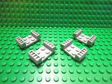 Lego 4 Silver 2x4 mudguard with grill car truck
