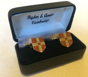 Ryder & Amies Cambridge Crest University of Cambridge, Red Shield Cufflinks UK