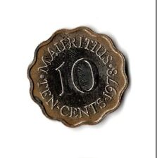 Rare 1978 Mauritius Proof Uncirculated 10c Ten Cent Coin