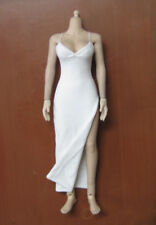 "In Stock 1/6 Scale White Evening Dress For 12"" Phicen Hottoys Female Body Doll"