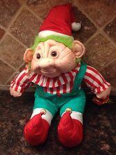 Troll Christmas Elf Plush stuffed Troll  International Silver Co