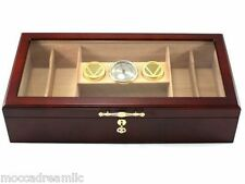 Cherry 150 Count Acrilic Top Commercial Display Humidor - Large Hygrometer