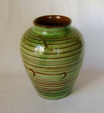 Antique Wattisfield Ware Pottery Vase C.1930s  8 1/2 inches high.