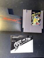 SKATE OR DIE NES NINTENDO VIDEO GAME CART WITH MANUAL
