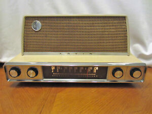 Rare Vintage ARVIN Tube AM Radio Works Awesome Looks Terrific Model  3582
