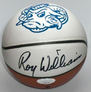 ROY WILLIAMS SIGNED NORTH CAROLINA TAR HEELS LOGO MINI BASKETBALL - J.S.A. Cert.