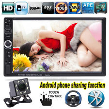 "7"" 2 DIN Bluetooth MP3 MP5 Player Car Stereo Radio Android Mirror Link + Camera"