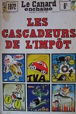 SATIRIQUE CARICATURE HUMOUR POLITIQUE ACTUALITES LES CASCADEURS DE L IMPOT 1972